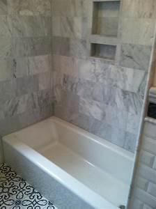 tub surround in marble from New Creations In Tile & Stone