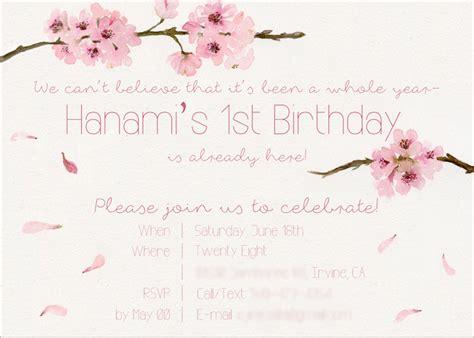 karas party ideas japanese cherry blossom st birthday
