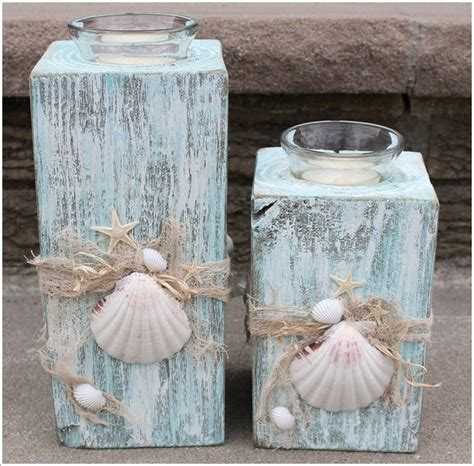 beautiful beach candle holder ideas