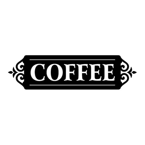 ornate coffee sign wall quotes decal wallquotescom