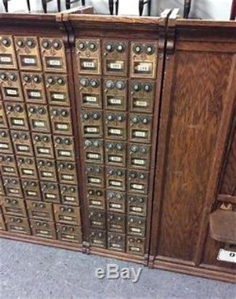 post office oak mail box unit   corbin combination