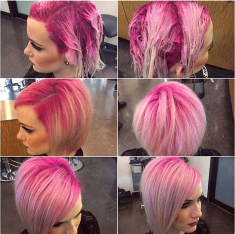 colored roots pink shadow root hair dyed hair hair color