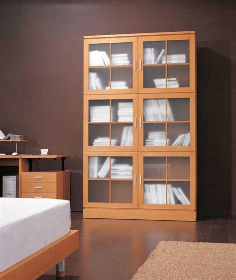 bookshelves with glass doors bookcase with glass doors design idea door design