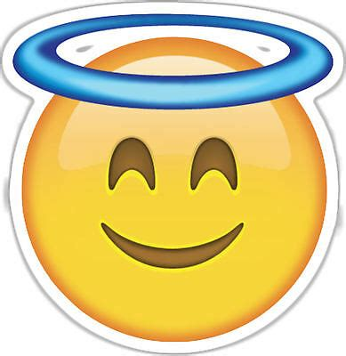 framed emoji print smiley angel face picture poster