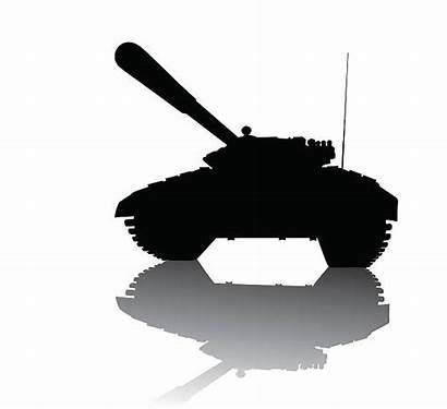 Tank Silhouette Soviet Vector Military Russian Clip