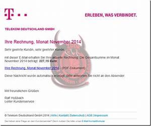 Telekom Rechnung De : internetbetr ger versenden im namen der telekom rechnungen f r den monat november 2014 trojaner ~ Themetempest.com Abrechnung