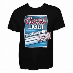 American Eagle Size Chart Mens Coors Light Men 39 S Black Silver Bullet T Shirt