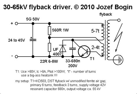 flyback driver 1 single transistor driver bogin jr