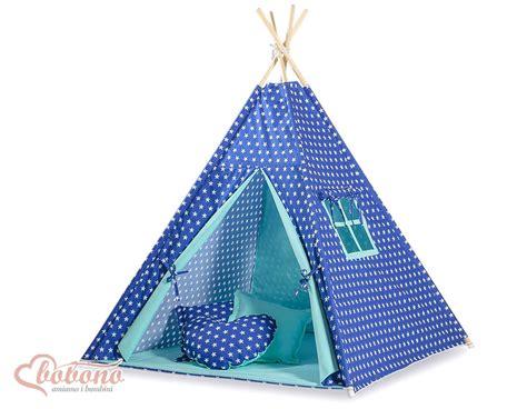 tipi pour chambre tipi teepee pour enfant avec textile bleu marine étoilé