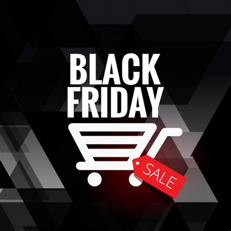 black friday sale background with cart icon vector free