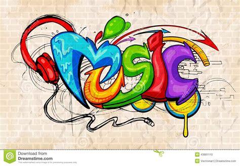 Graffiti Music : Graffiti Style Music Background Stock Vector