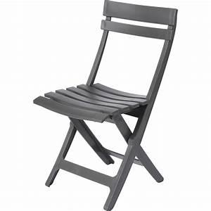 Chaise En Resine : chaise de jardin en r sine miami anthracite leroy merlin ~ Teatrodelosmanantiales.com Idées de Décoration