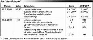 Bema Abrechnung : abrechnung nach bema und goz operative eingriffe eine ~ Themetempest.com Abrechnung
