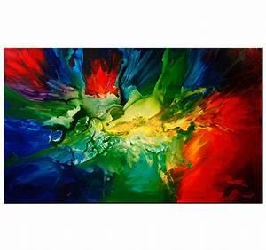 Tableau Peinture Moderne : peinture moderne paint explosion ~ Teatrodelosmanantiales.com Idées de Décoration