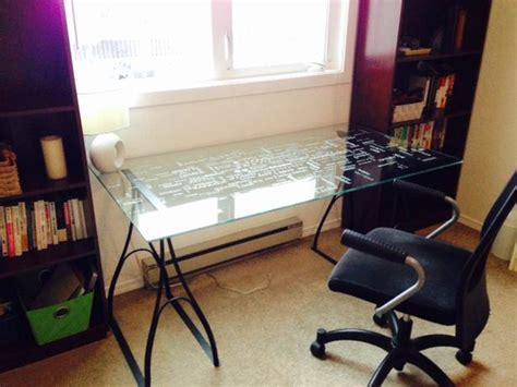 ikea clear glass computer desk ly glass ikea desk oak bay