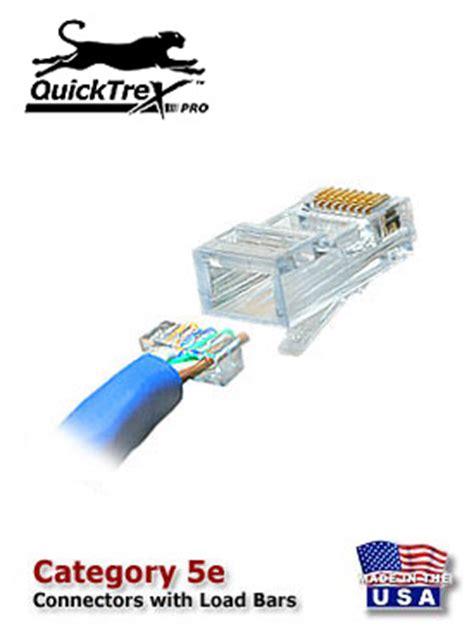 Cat 6 Wiring Diagram With Load Bar by Rj 45 Modular Plugs Rj 45 Connector Lanshack