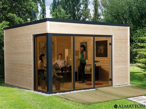 abri en bois brut 11 4 m2 cubilis 1 design 233 paisseur 45 mm almateon