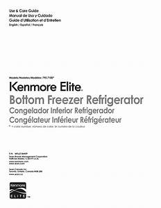 Kenmore Refrigerator 795 7105 User Guide