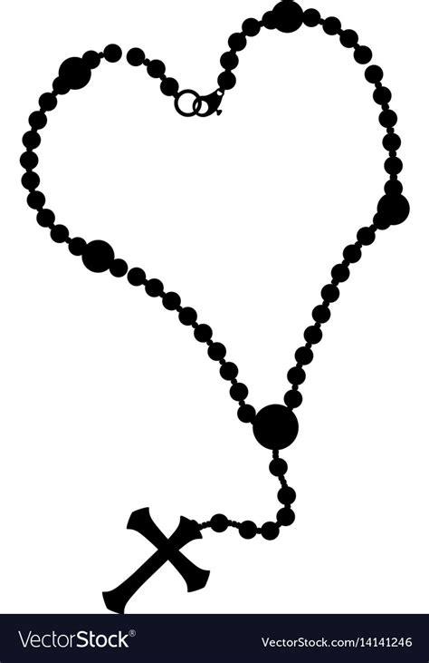 Rosary catholic faith Royalty Free Vector Image