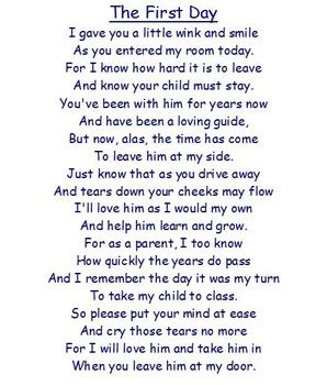 short poem  parents    day classroom ideas
