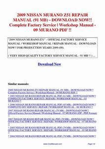 2009 Nissan Murano Z51 Repair Manual 91 Mb