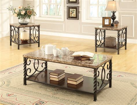 Coaster 701695 3pc Coffeecocktail Table Set  Dark Brown