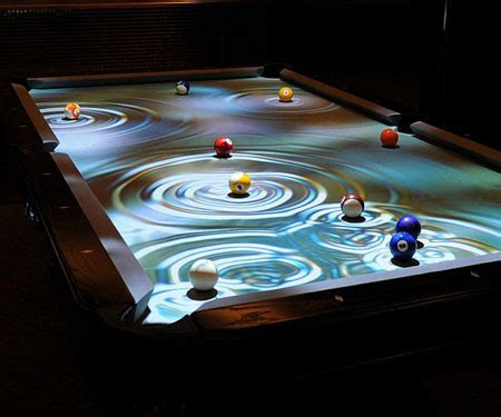 interactive pool table awesome stuff