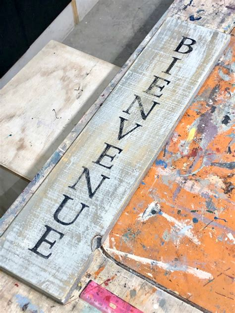 Bienvenue (French Welcome) | Welcome wood sign, Wooden ...