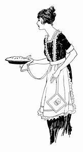 Woman Serving Pie ~ Free Vintage Clip Art | Old Design ...