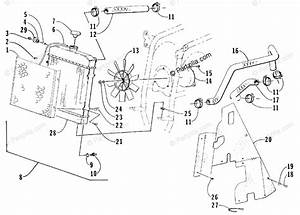 Arctic Cat Atv 1998 Oem Parts Diagram For Cooling Assembly