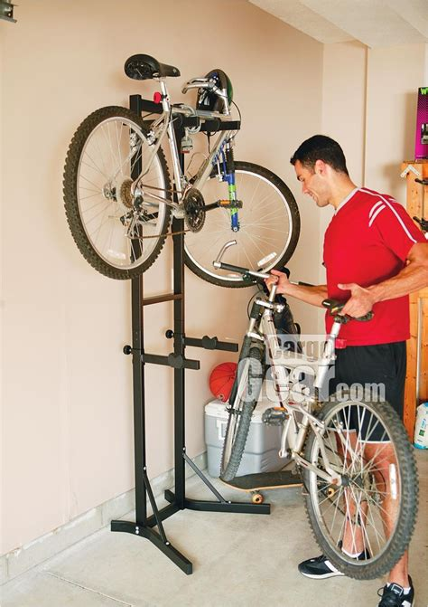 cycle stands for garage in garage bike stacker stand