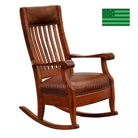amish geneva rocking chair solid wood made in america