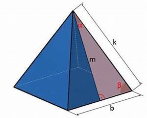 Pyramide Höhe Berechnen : pyramide kanten fl che volumen einer pyramide berechnen ~ Themetempest.com Abrechnung