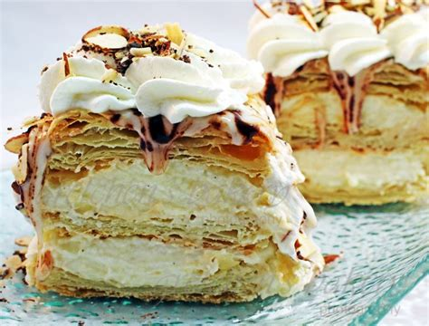 puff pastry desserts mille feuille and puff pastries on