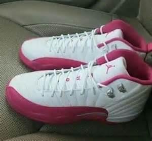 Air Jordan 12 Pink and White