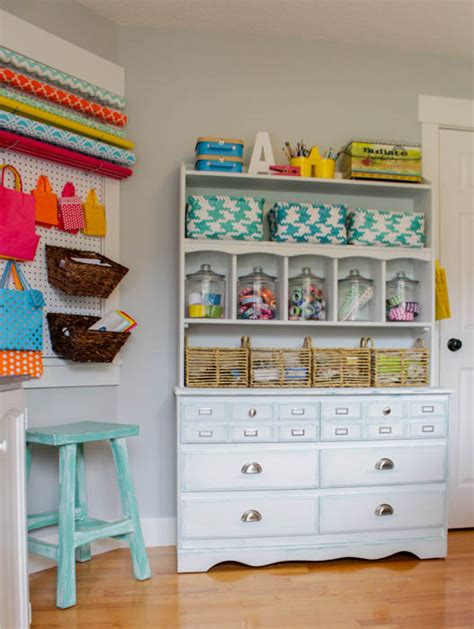Creative, Thrifty, & Small Space Craft Room Organization