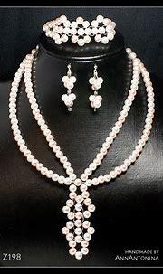 White-Pink Pearls Set - Z198 by AnnAntonina on DeviantArt