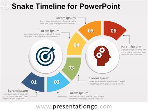 snake timeline diagram  powerpoint presentationgocom