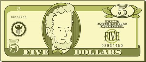 five dollar bill clipart black and white royalty free five dollar bill clip vector images