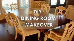 "DIY Dining Room Makeover ""Just Chalk Paint & Fabric"" - YouTube"