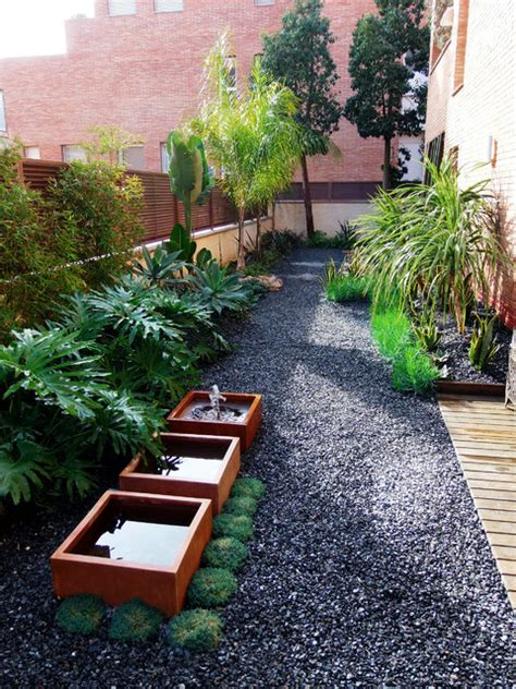landscaping narrow spaces tiana mediterranean landscape barcelona by simbiosi