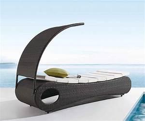 Bain De Soleil Avec Accoudoir : bain de soleil avec ombrelle design et confortable livraison gratuite ~ Teatrodelosmanantiales.com Idées de Décoration