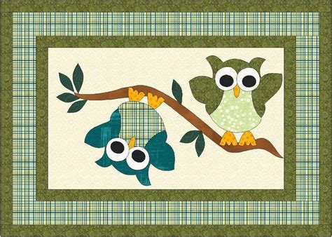 owl quilt pattern ideas  pinterest owl quilts