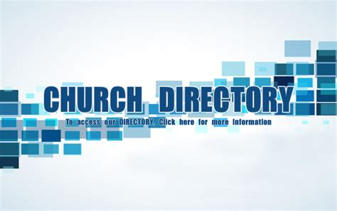 church directory church directory unity baptist church