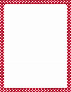 Printable red and white polka dot border. Free GIF, JPG ...