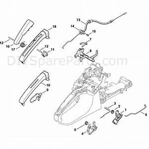Stihl Ms 280 Chainsaw  Ms280 C  Parts Diagram  Throttle