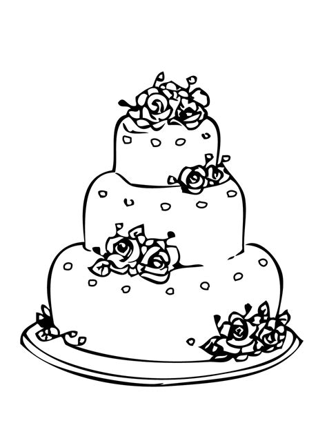 wedding cake coloring pages  printing