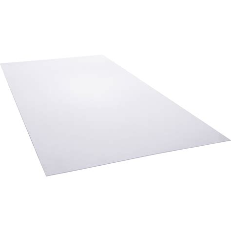 plaque polystyrene transparent lisse    cm
