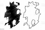 Chelyabinsk City Map Vector Illustration Scribble Sketch ...