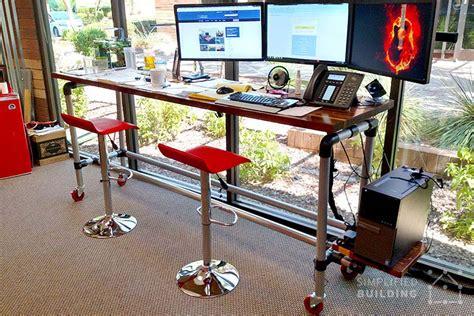 diy standing desk classroom 37 diy standing desks built with pipe and kee kl
